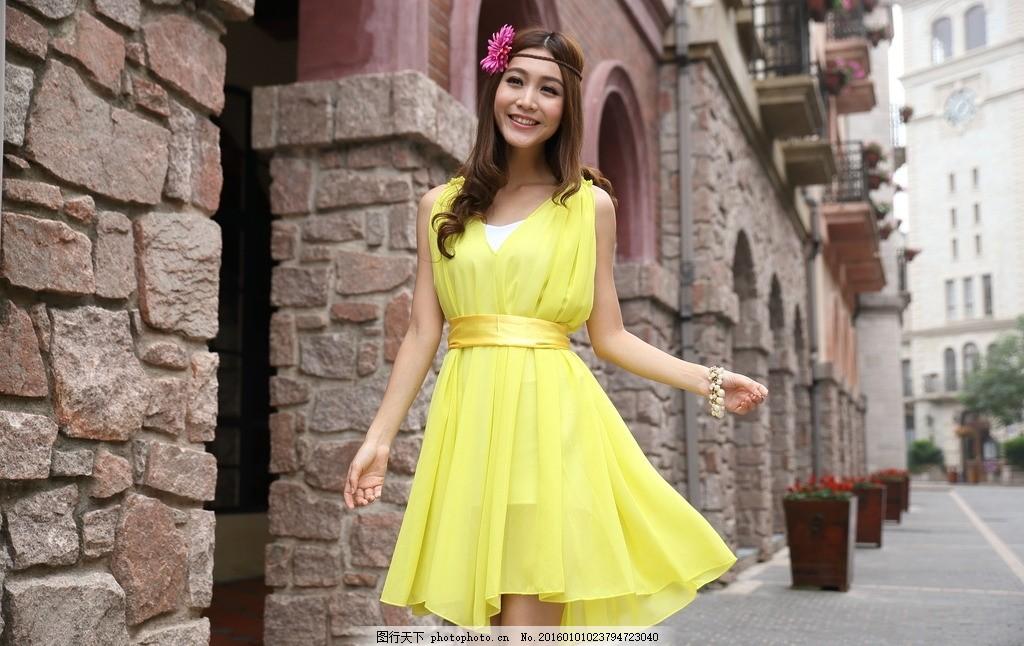 服装模特 模特 服装 服装广告 模特广告 欧式建筑 长发 淘宝 夏装模特
