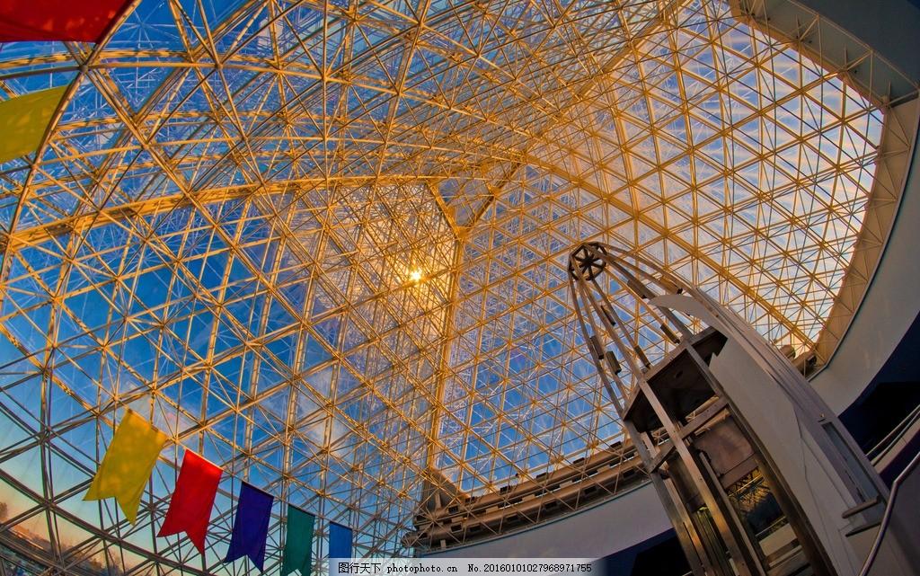 建筑顶棚 会展中心 屋顶 钢结构 现代建筑 顶棚设计 迪士尼 摄影
