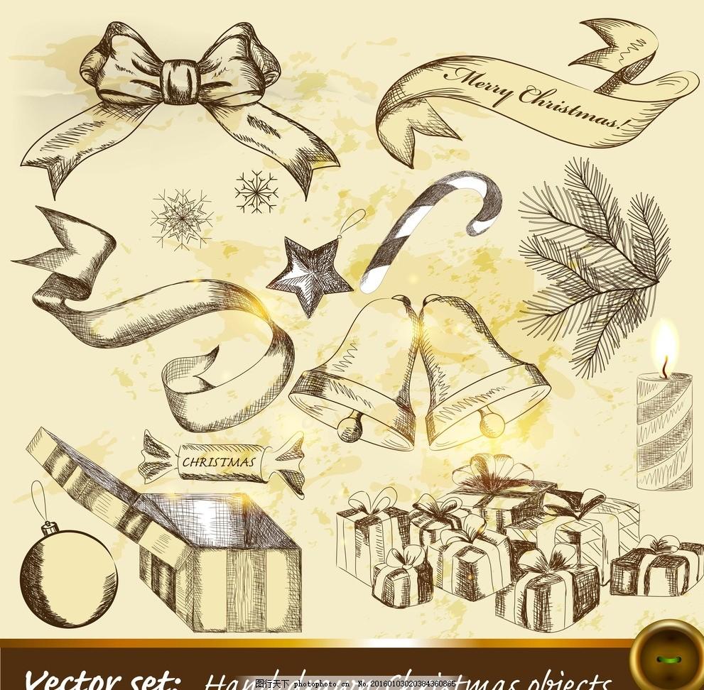 蝴蝶结 手绘丝带 复古 怀旧 欧式古典花纹 设计 矢量 设计 底纹边框