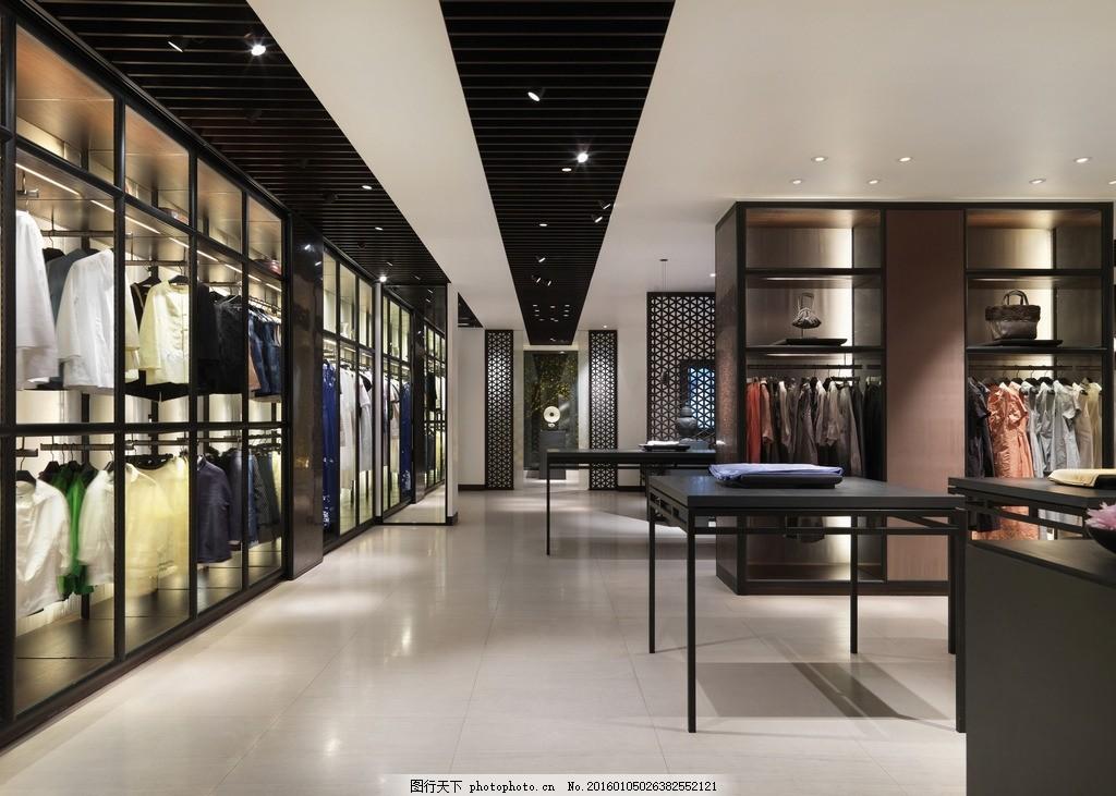 设计图库 生活百科 其他  品牌服装店 服装店 柜台 透视图 品牌 室内