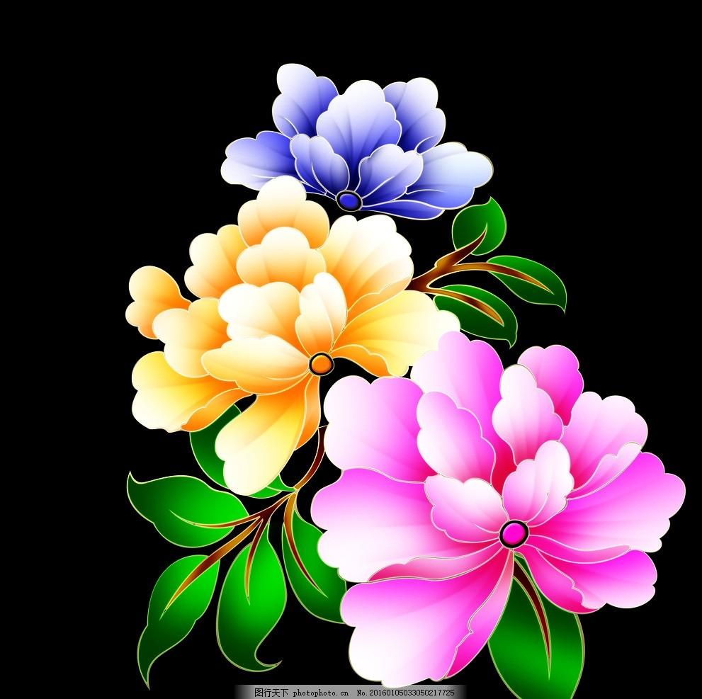 手绘玫瑰花 手绘花 月饼包装 中秋礼 牡丹花 茶礼 中秋文化 源文件