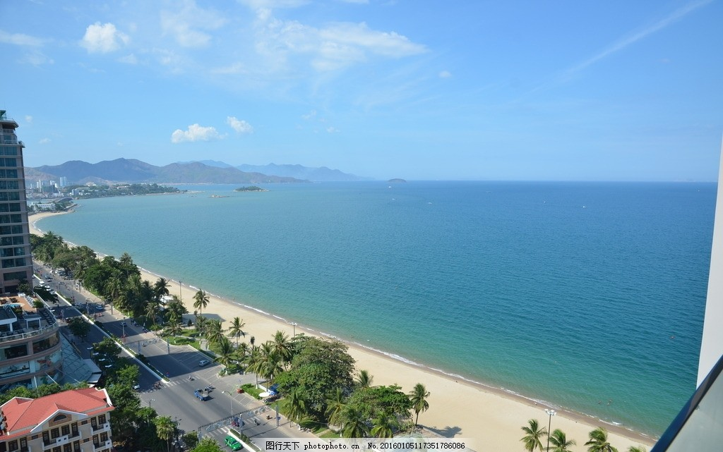 越南芽庄 越南 芽庄 海边 岛屿 城市 摄影 自然景观 自然风景 300dpi