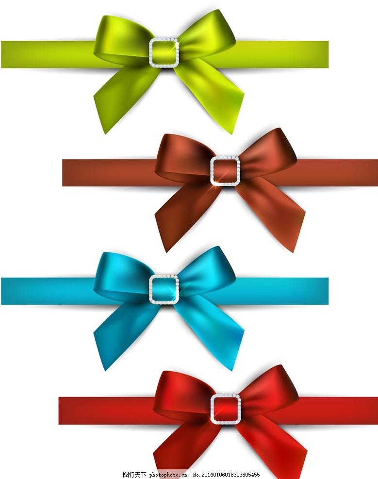 蝴蝶结 彩色丝带 包装设计 礼品包装 矢量 广告设计