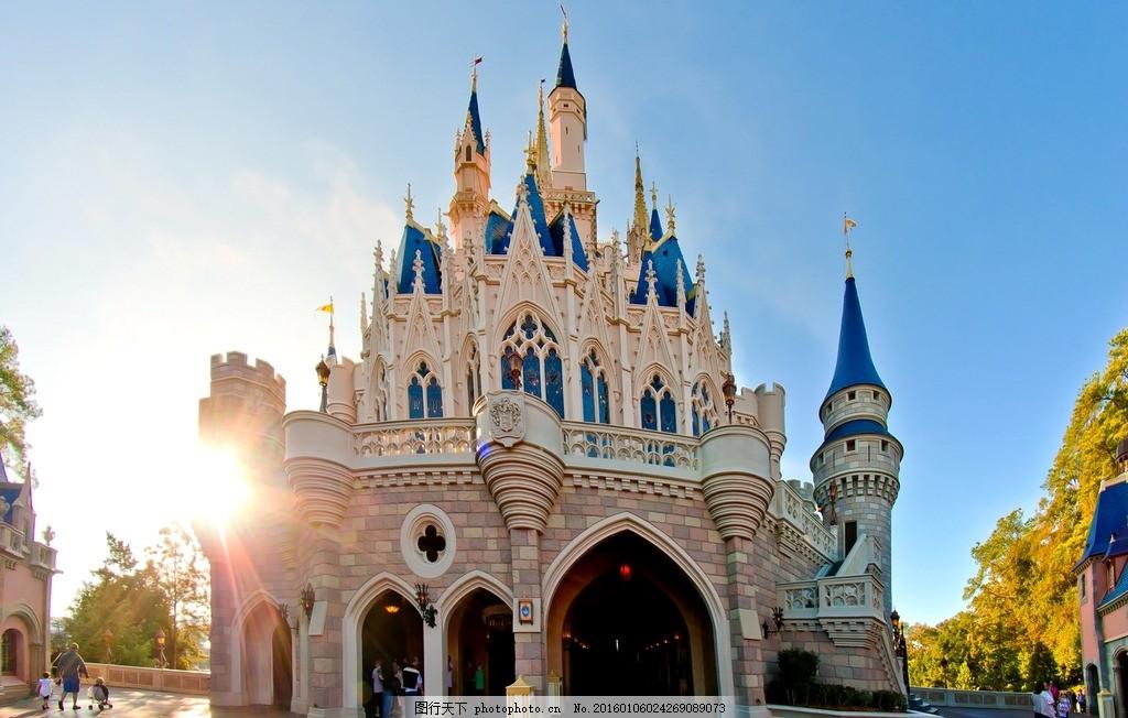 建筑 欧洲 城堡 欧式 国外建筑 花园 春天 公园绿化 童话 童话王国