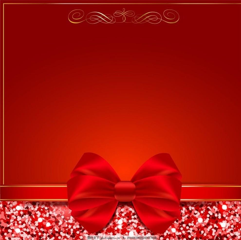 红色 金色 亮光 光点 斑点 光斑 立体 时尚 花纹 抽象 底纹 边框 欧式