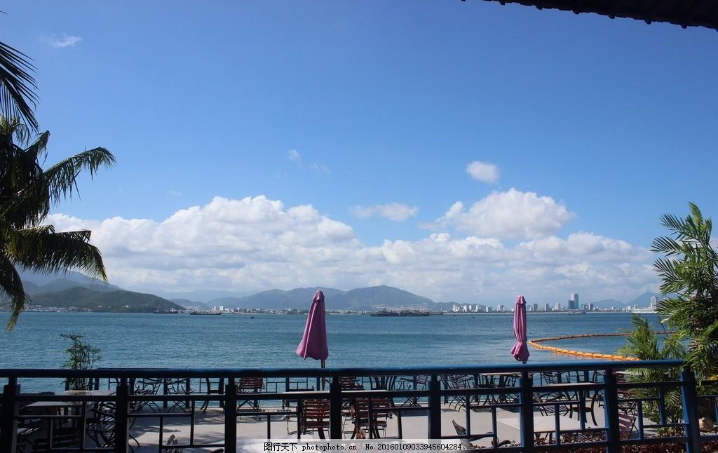 海边午后 海边蓝天 海边小憩 海边餐厅风景 海边风景 越南芽庄 摄影