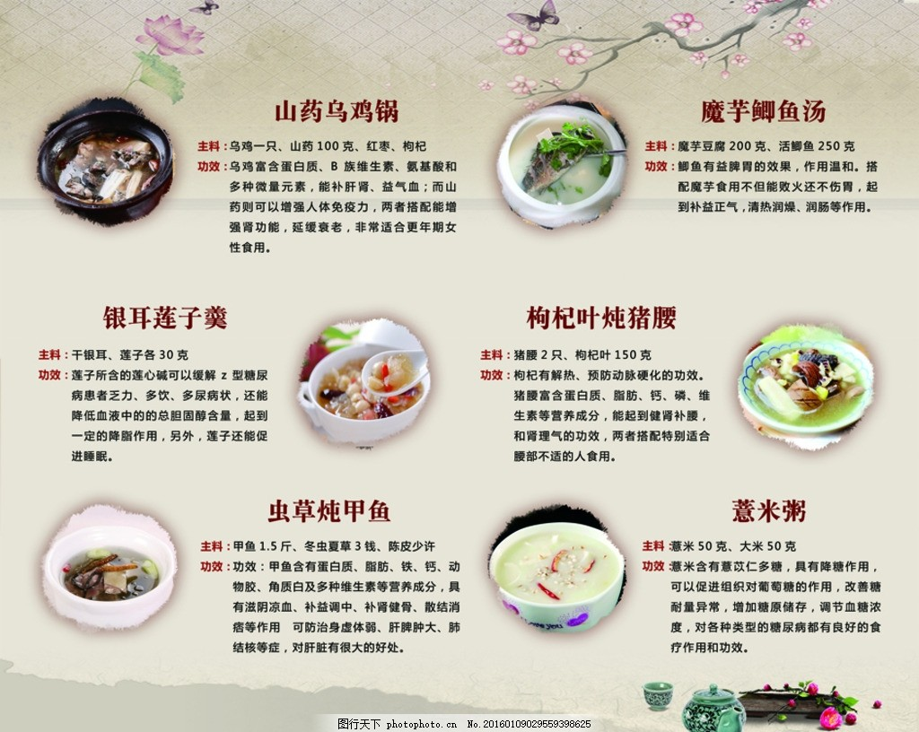 营养膳食 营养菜谱 菜单 膳食 中国风 古典 菜肴 设计 广告设计 广告