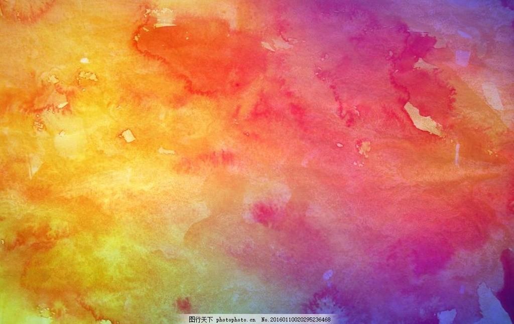 颜料手绘星空图