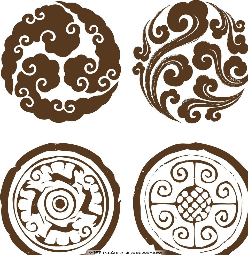 中国元素 古典 古典背景 古典边框 古典花边 古典花纹 古典图案 仿古