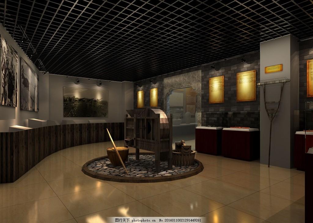 仿旧博物馆 室内外效果图 展厅 建筑设计 3d建模 vr渲染        设计