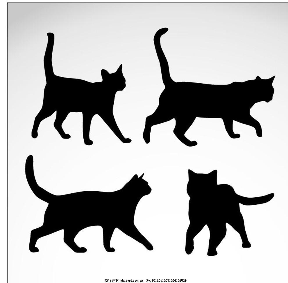 手绘猫素材