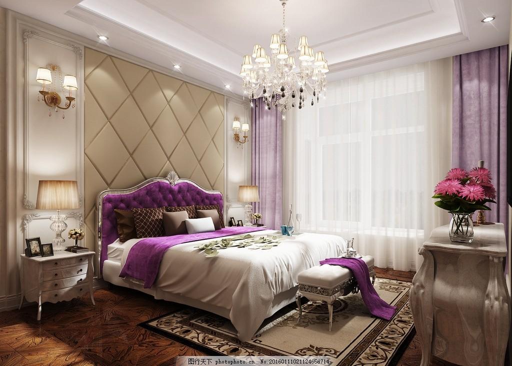 简欧 奢华 浪漫主卧室图片