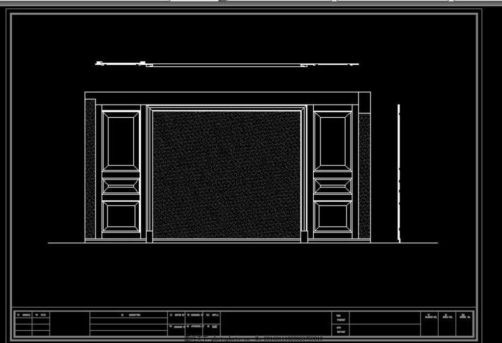 室内设计 施工图纸      客厅移门 客厅效果图 客厅山水画 客厅影视墙