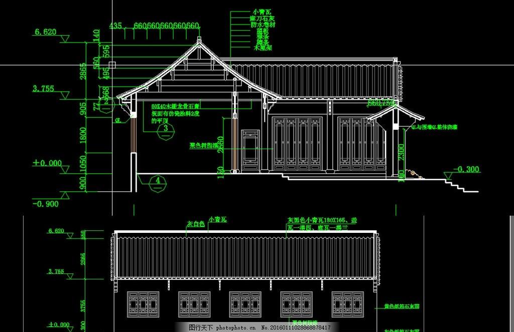 准提庵建筑施工图 古建筑图纸 古建筑设计