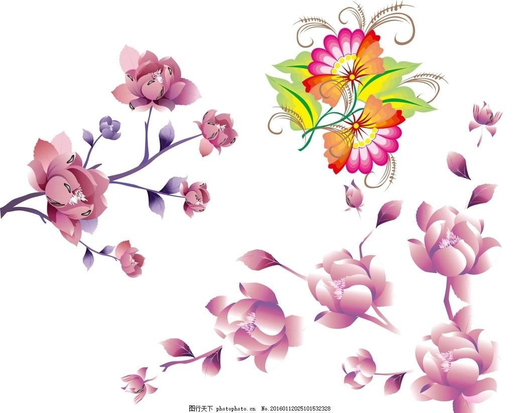 花卉植物 花草 手绘 春天素材 春季素材 绿色植物 鲜花素材 春天 百合