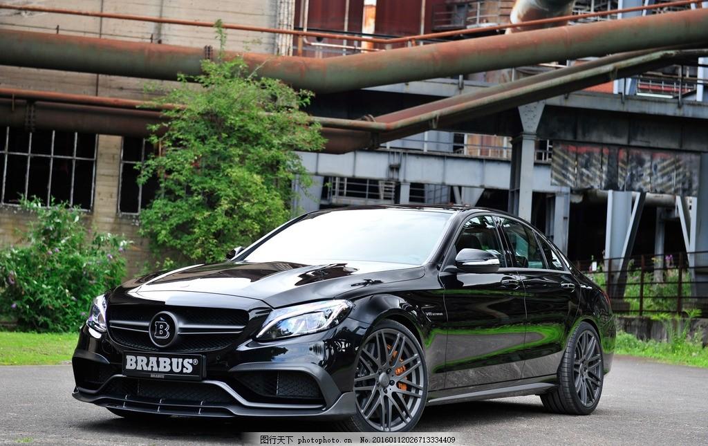 梅赛德斯 奔驰 黑色 汽车 巴博斯套件 改装车 奔驰改装 汽车摄影