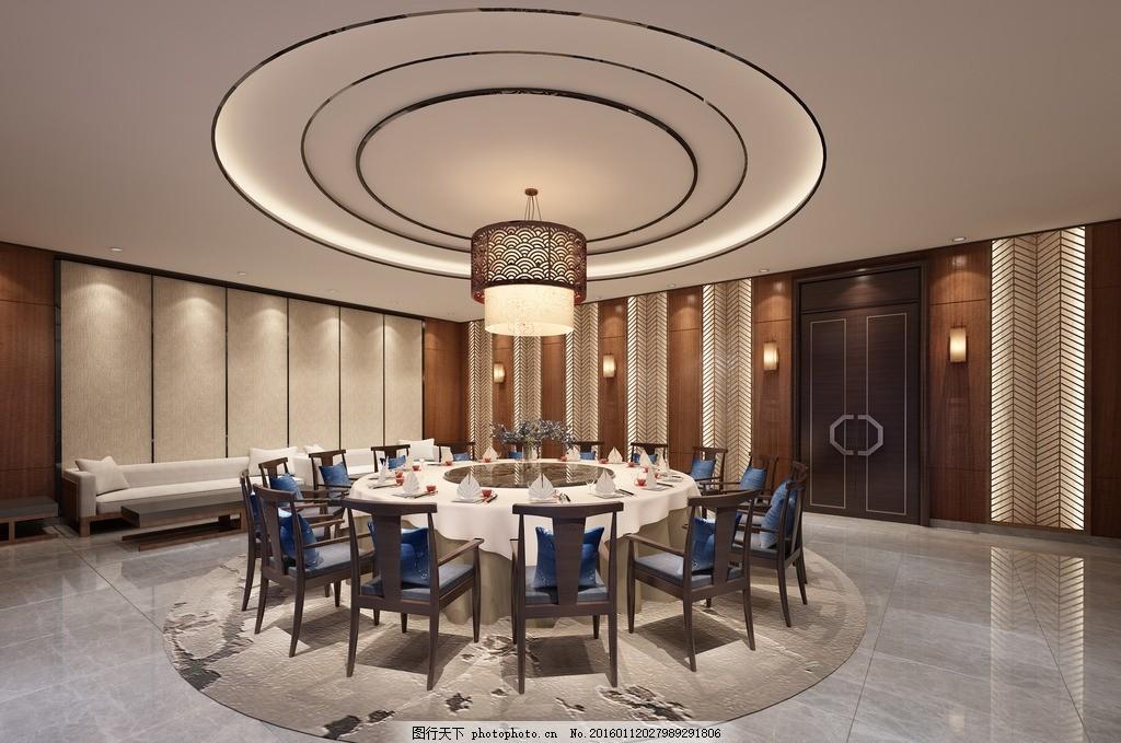 餐厅豪华中式大包房设计 包厢 室内 奢华