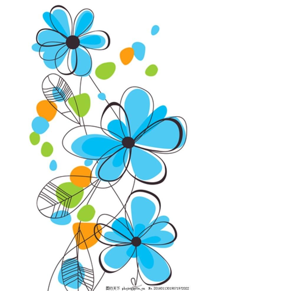 可爱儿童卡通花花瓣