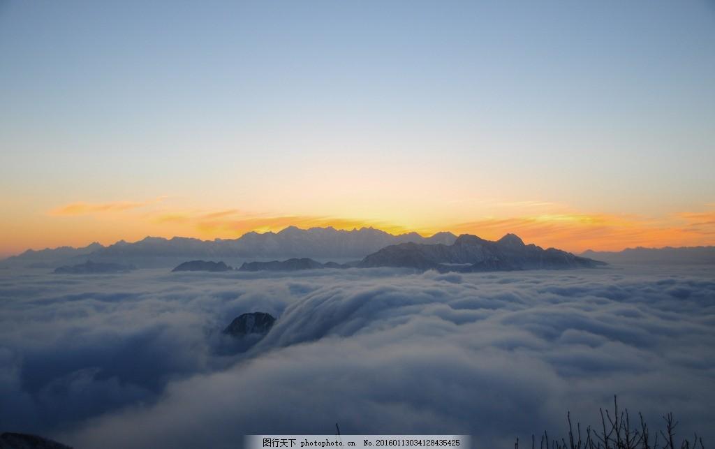 云海 摄影 千佛山 风景 夕阳 摄影 摄影 旅游摄影 自然风景 300dpi