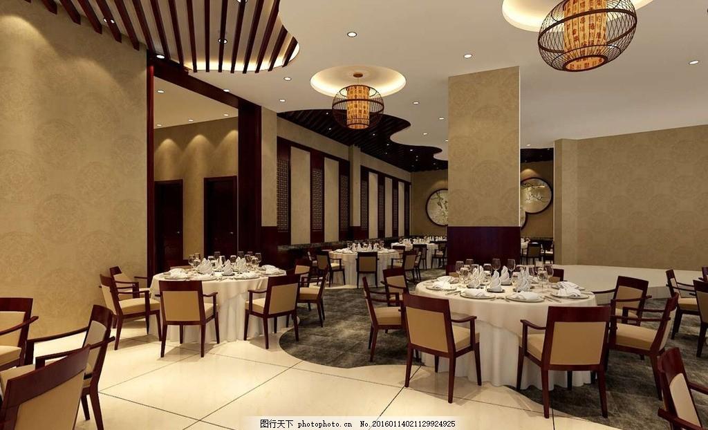 餐厅效果图 餐厅        圆桌 餐饮 饭店 室内设计图 设计 3d设计 3d