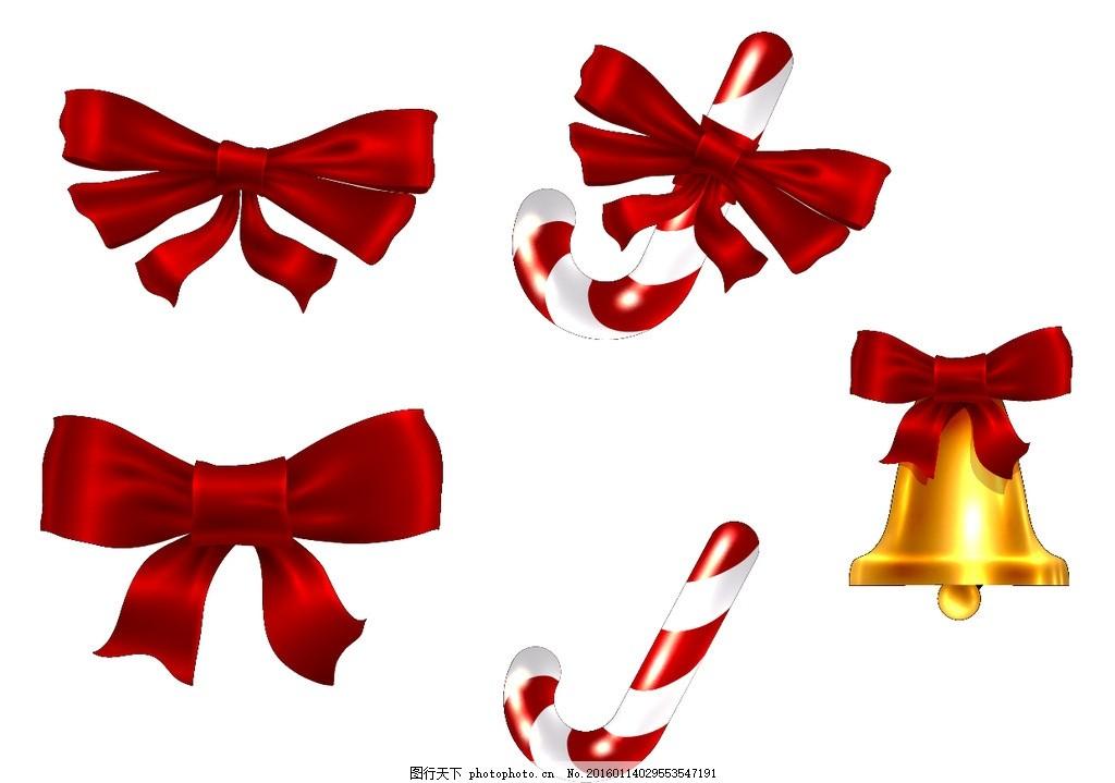 矢量蝴蝶结 铃铛 红色丝带 包装设计素材 漂亮蝴蝶结 丝带 可爱的蝴蝶