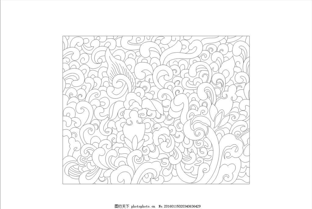 花纹线条 边框设计图 屏风室内雕花 镂空雕花 隔断 镂空线条 边框木雕