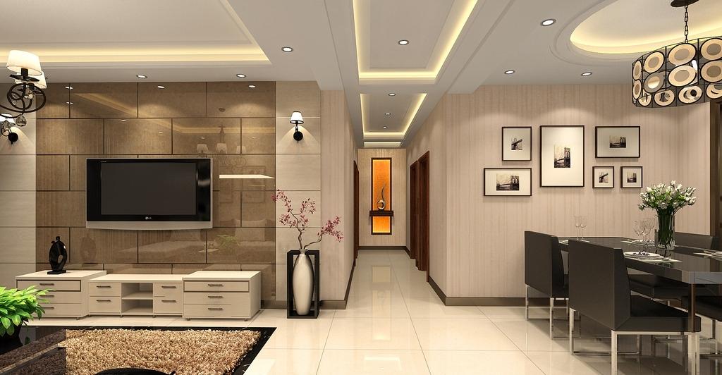 设计图库 环境设计 室内设计  室内效果图 简约 电视背景 地毯 木饰面