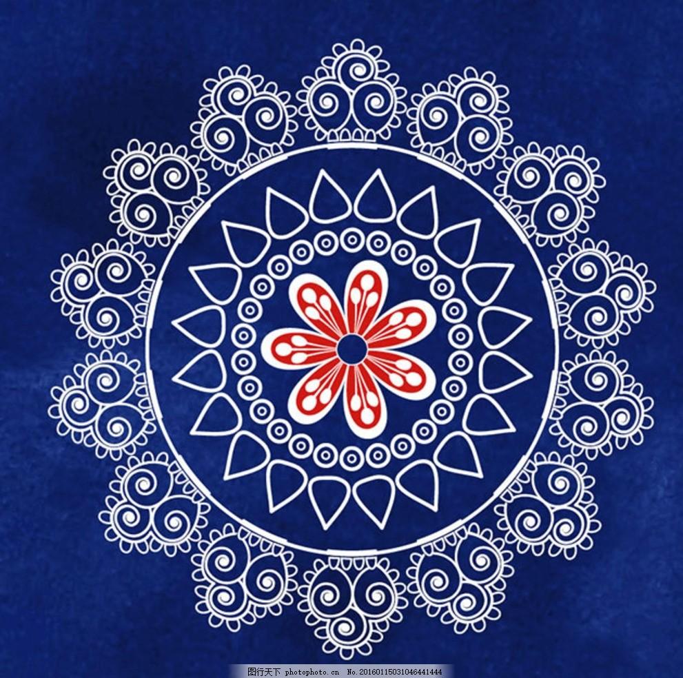 欧式古典圆形花纹