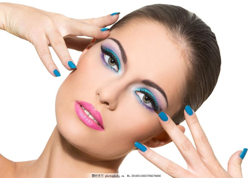 美容彩妆模特 美甲 化妆 美女 性感 精致 妆容 妆面 口红 唇彩 红唇