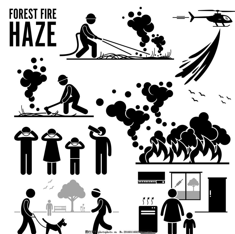 消防安全小人