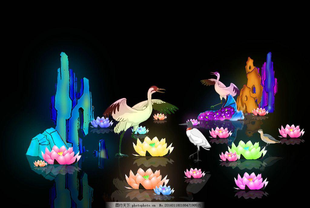 水池灯组 自贡彩灯 水池装点 城市亮化 节日彩灯 节日灯会 元宵灯会