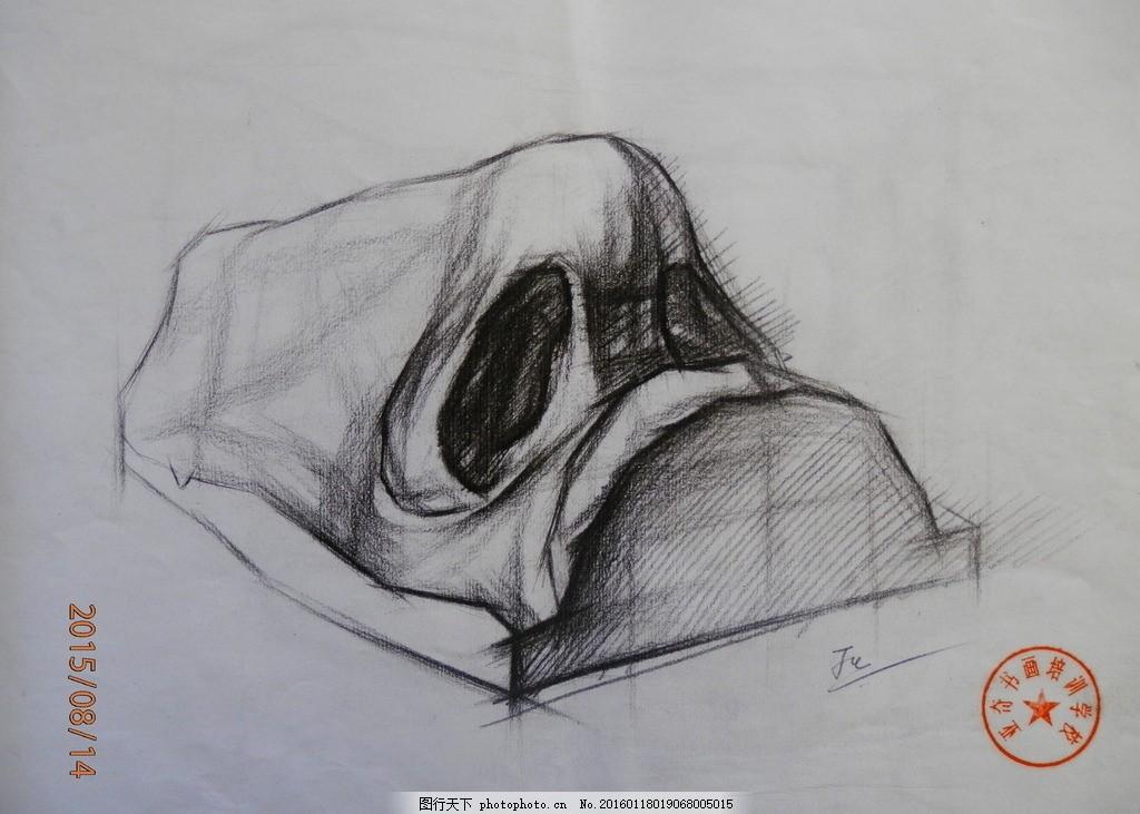 素描 静物 石膏像 结构 五官 写生 大师 鼻子 摄影 美术绘画