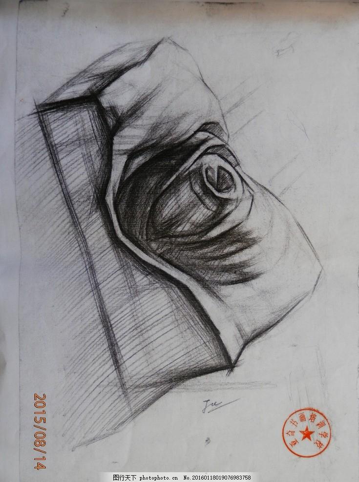 素描 静物 石膏像 结构 五官 写生 大师 眼睛 摄影 美术绘画