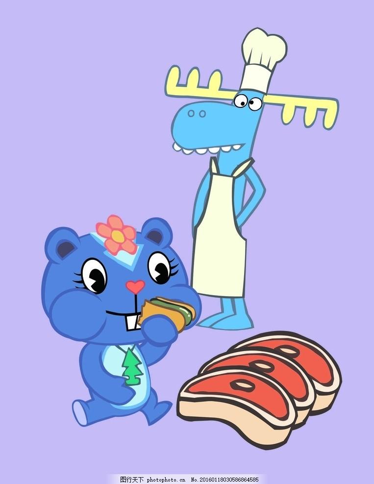 字母 动物 动物图案 可爱图案 可爱动物 卡通动物 矢量素材 卡通印花