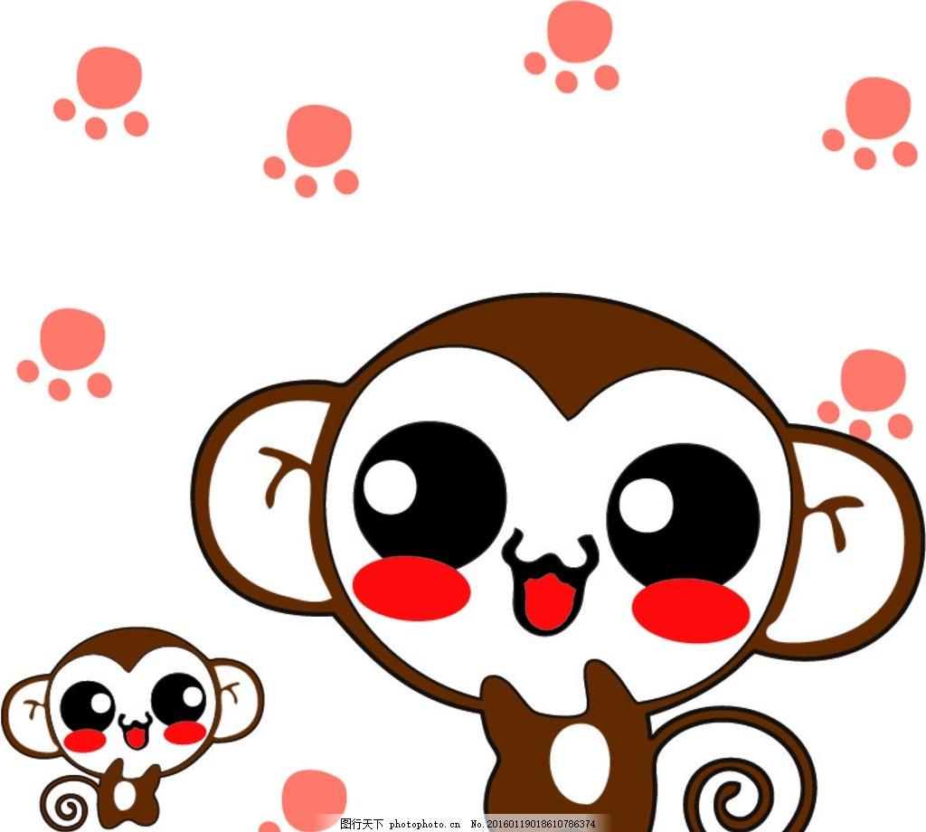 可爱猴子 熊 猴子 可爱 英文 英伦 卡通边框 卡通素材 相框 卡通背景