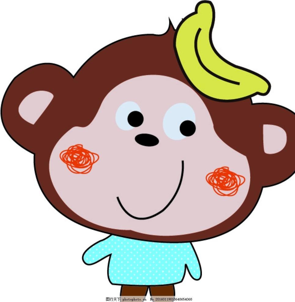 可爱猴子 猴子 可爱 英文 英伦 卡通边框 卡通素材 相框 卡通背景