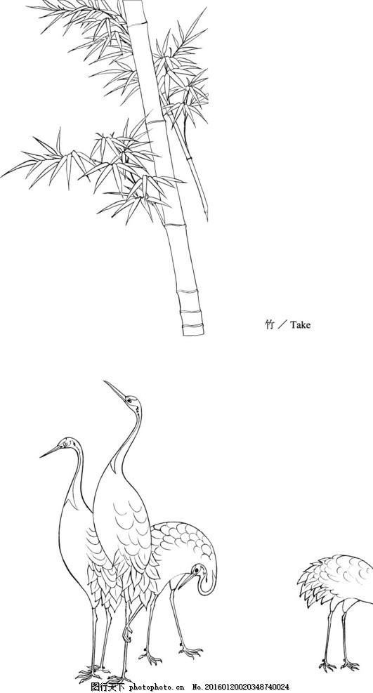 竹子简笔画 步骤 花边