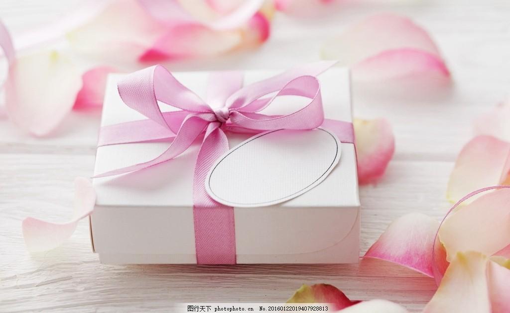 礼物 礼盒 礼品 粉色 情人节 爱情 丝带 彩带 卡片 粉玫瑰 玫瑰花