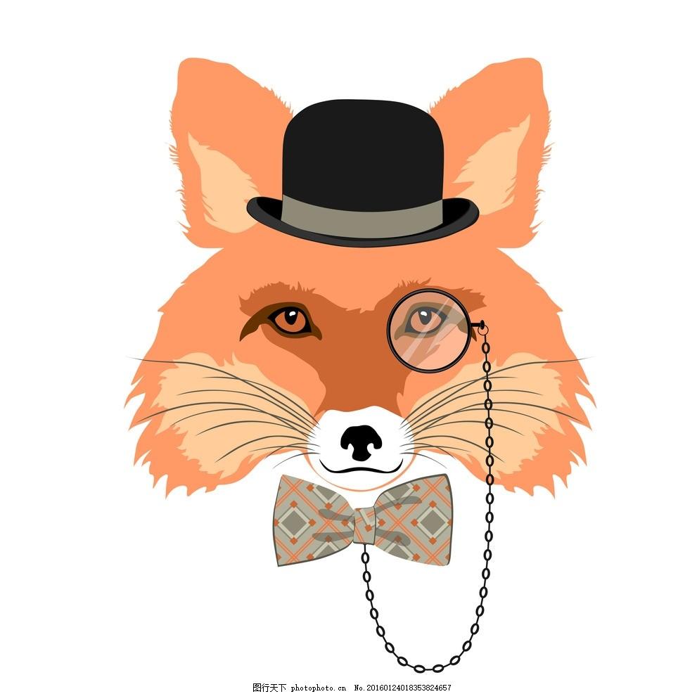设计图库 动漫卡通 动漫人物  卡通动物 眼镜 抽象 拟人 帽子 猫 狗