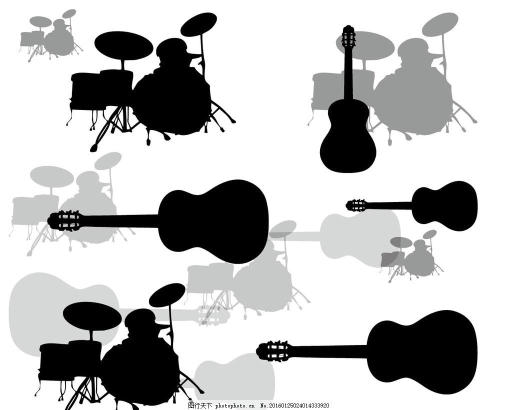 卡通吉他手绘图片
