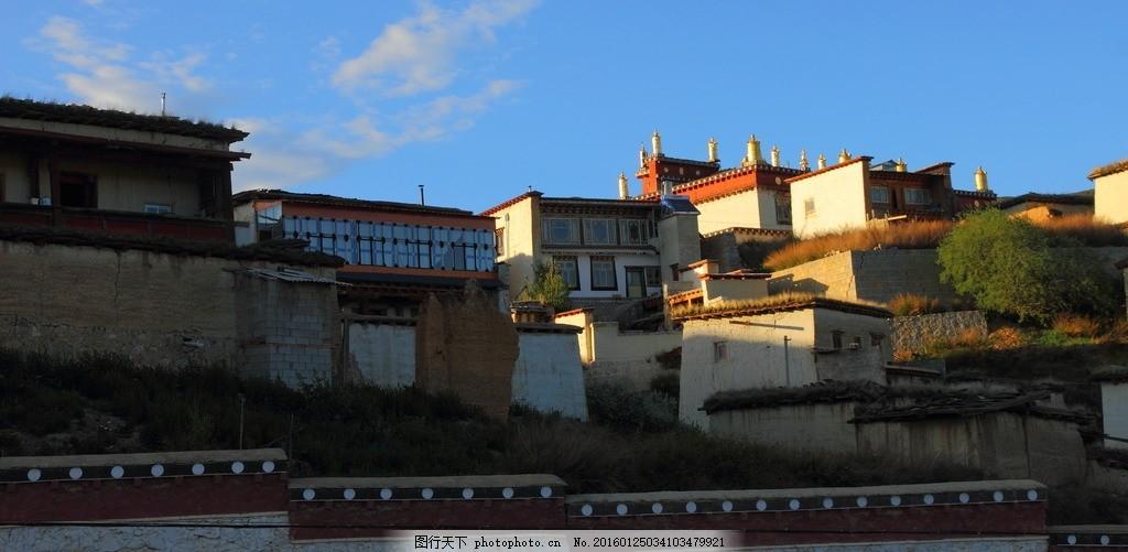 云南香格里拉 云南 香格里拉 古建筑 宗教 房子 寺 风景照片 摄影