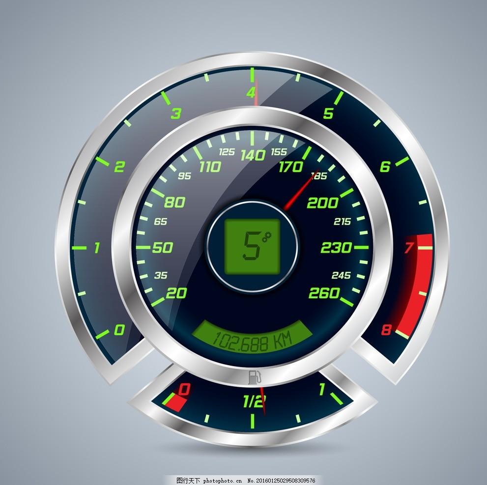 汽车仪表 仪表盘 速度表 指针 赛车 交通工具