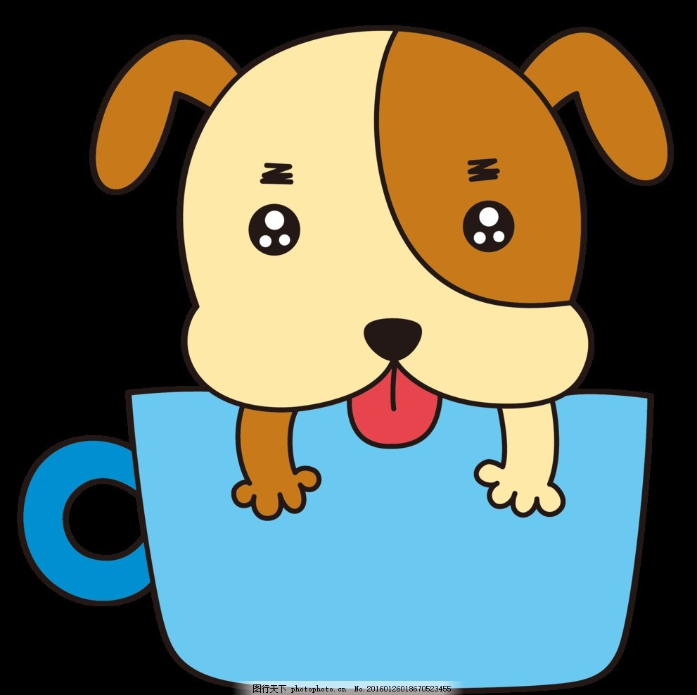 汪星人 汪汪 可爱 小狗 动物 萌犬 设计 动漫动画 其他 eps
