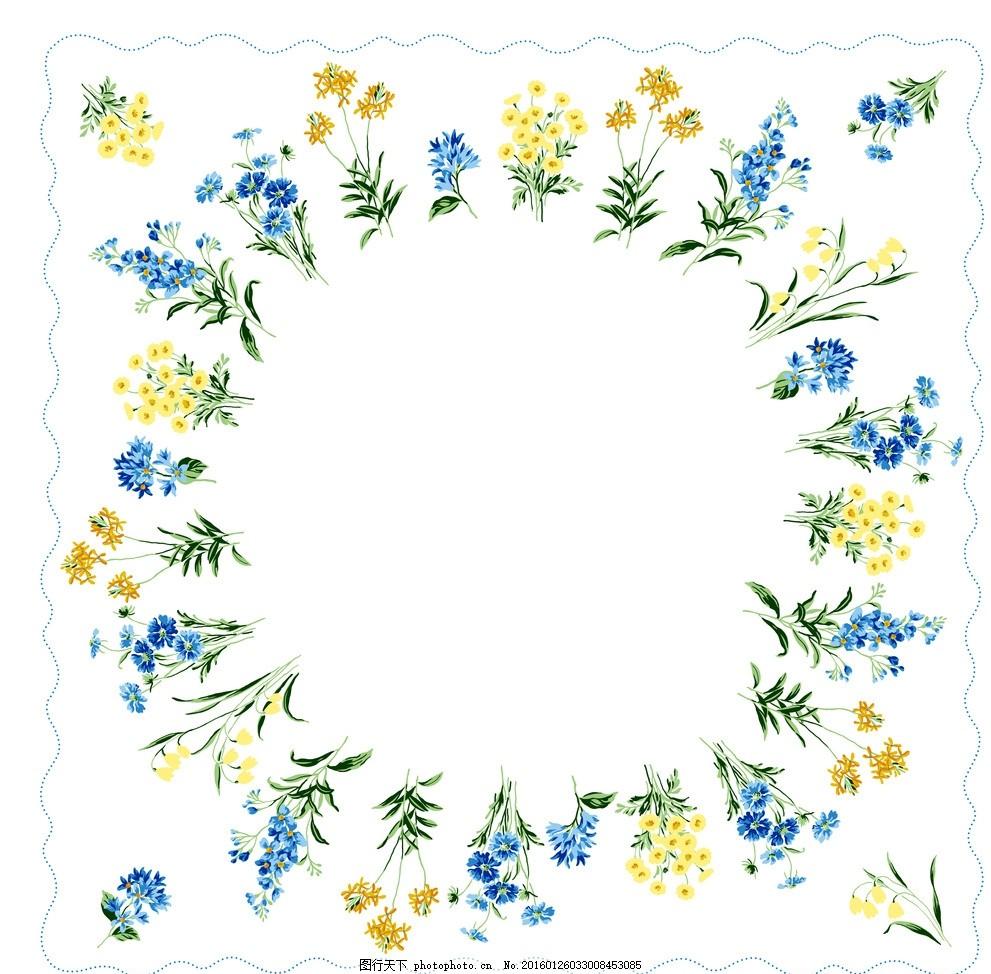 鲜花边框 相框 鲜花 缤纷 五彩 森系 设计 底纹边框 边框相框 乱七八