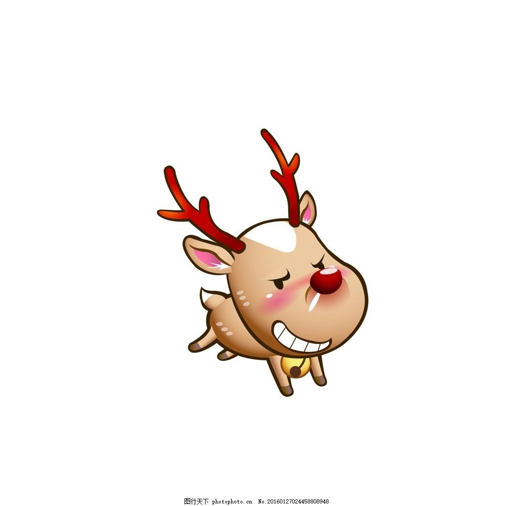 动物 卡通 可爱 q版鹿 飞翔 圣诞 q版动画 兔子狗君 小花鹿 梅花鹿