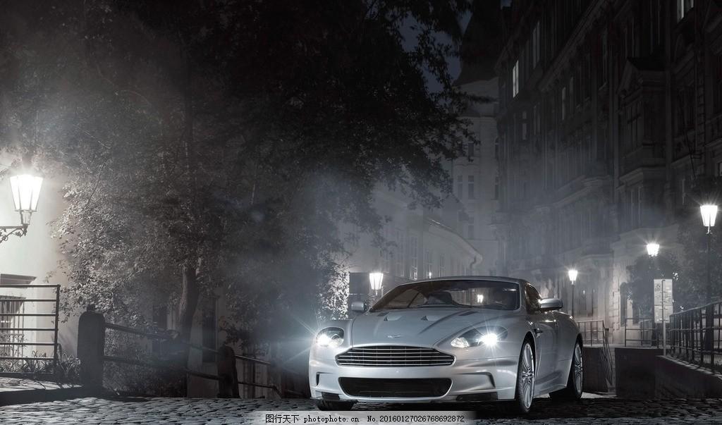 赛车摄影 汽车 轿车 墙壁 灯光 车灯 汽车摄影