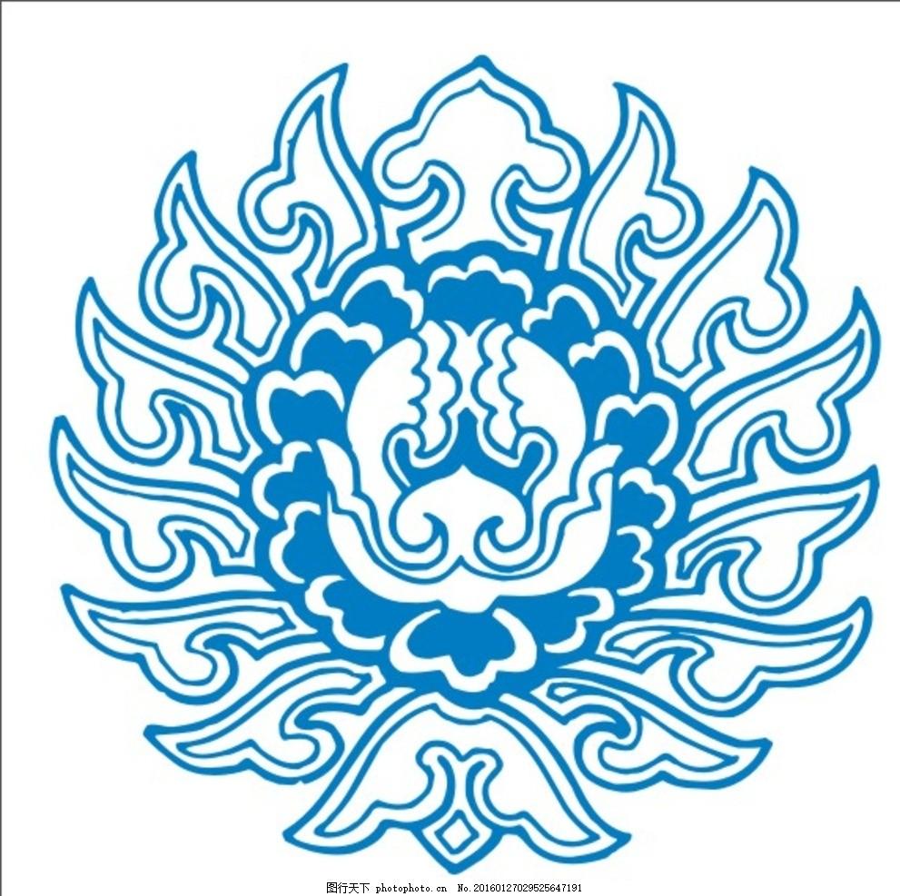 中式边框中式花纹民族花纹