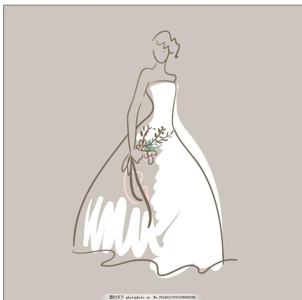 手绘新娘婚纱