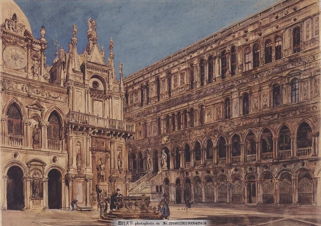 欧式古典建筑 古堡 欧式古建筑 古典建筑 欧洲建筑 欧式皇宫 罗马柱