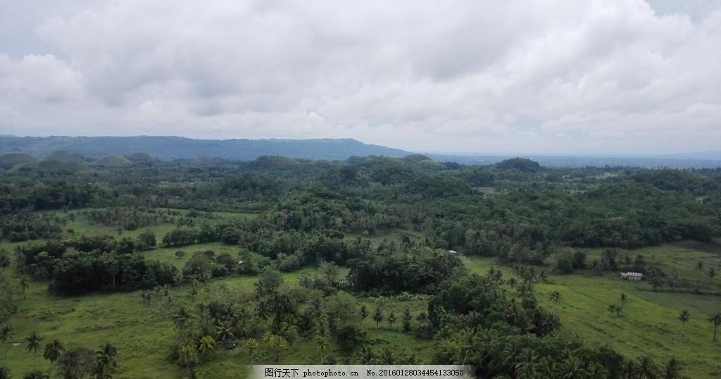 巧克力山全景 哈利波特 薄荷岛 菲律宾 海岛 菲律宾 摄影 自然景观